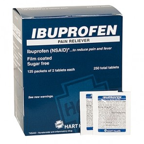 IBUPROFEN PAIN RELIEVER, HART INDUSTRIAL PACK, 250/2'S BOX 5652