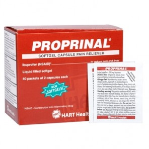 PROPRINAL Softgel, HART, 200 mg ibuprofen, compare to Advil, 40 packets of 2 capsules per box (80 total capsules) 5696