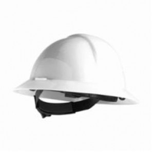 North® by Honeywell A119R010000 Everest Full Brim Hard Hat, White with 6 Point Nylon Suspension