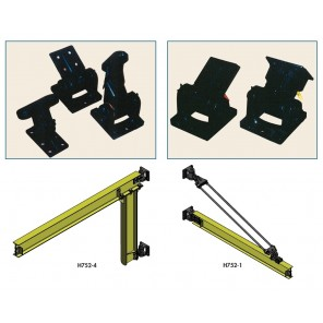 """DO-IT-YOURSELF"" WALL OR COLUMN BRACKET KITS, 313 Full Cantilever (2 fittings), Capacity: 1/2 ton to 18'-20' Span 1 ton to 14'-20' Span 2 ton to 12' Span"