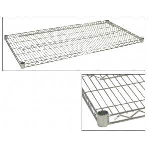 JAKEN CHROME WIRE SHELVES, Size D x W: 18 x 60""