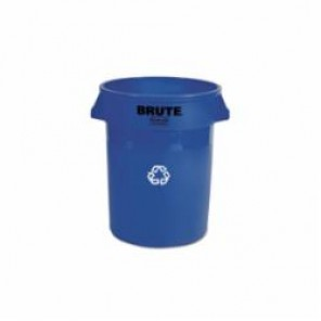 Rubbermaid 263273 Brute 32 Gallon Rounc Recycling Container, Blue