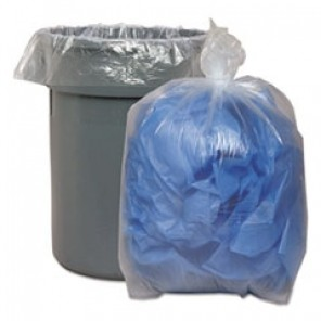 Low Density Repro Can Liners, 1.1 Mil, 60gal, 38 x 58, 10 Bags/Roll, 10 Rolls/CT BWK533