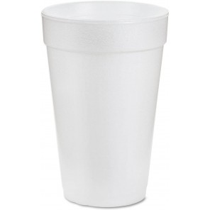 Dart® DCC16J16 Insulated Foam Drink Cups, 16oz, White, 25/Bag, 40 Bags/Case
