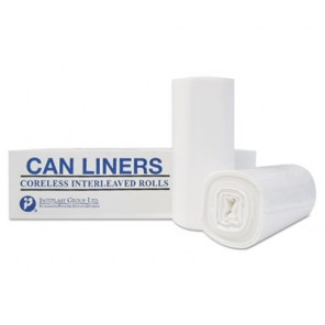 High-Density Can Liner, 40 x 48, 45-gal, 22 Micron, Clear, 150/Case