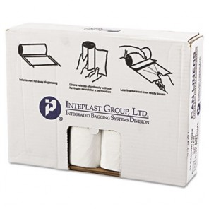 High-Density Can Liner, 33 x 39, 33gal, 14mic, Clear, 25/Roll, 10 Rolls/Case
