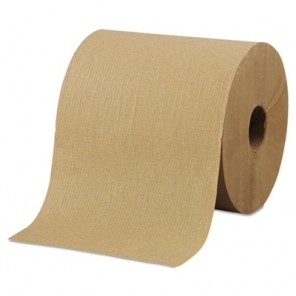 "Morcon Tissue R6800 Hardwound Roll Towels, 8"" x 800ft, Brown, 6 Rolls/Carton"