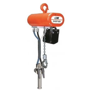 CM SHOPAIR CHAIN HOIST, Series: 115-1-60, Cap. (lbs.): 250, Lift Height: 10', Speed (f.p.m.): 0-31