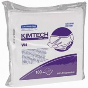 Kimtech Pure; 33330 Critical Task Dry Wiper, 12 in W, 100 Wipes, 100% Polypropylene, White