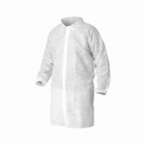 KleenGuard; 40105 Disposable Lab Coat, 2XL, White, Unisex, Spunbond Polypropylene