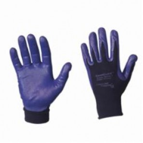 KleenGuard; G40 Coated Gloves, SZ 7/S, Nitrile Palm, Blue, Straight Thumb, Nylon/Spandex®