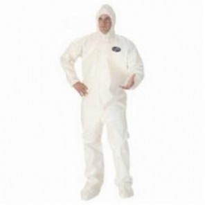 KleenGuard; A80 Chemical Permeation and Jet Liquid Resistant Disposable Coverall, 4XL, Saranex® 23-P Film/Fabric