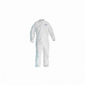 KleenGuard; 46102 Breathable Disposable Coverall, M, 27 in Chest, 40 in Inseam, White, SMS Fabric