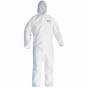 KleenGuard; 46112 Breathable Disposable Coverall, M, 27 in Chest, 40 in Inseam, White, SMS Fabric