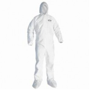 KleenGuard; 46175 Breathable Disposable Coverall, 2XL, 30 in Chest, 32 in Inseam, White, SMS Fabric