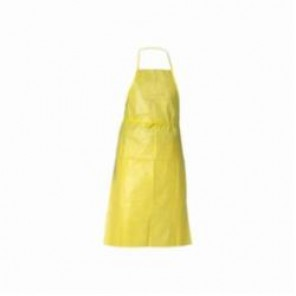 KleenGuard; 97790 Light Weight Protective Apron, Universal, 44 in L, Yellow, Polyethylene