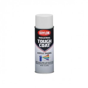 Krylon® A03720007 Flat White Industrial Tough Coat® Acrylic Enamel 16 oz