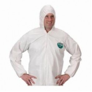 Lakeland® CTL428-4X MicroMax® NS White Disposable Coverall With Elastic Ankle and Wrist, 4XL, 25 per Case