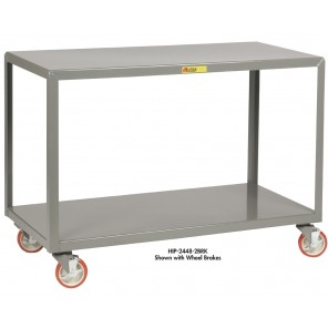 MOBILE TABLES, Caster Type: Standard, Size D x W: 24 x 60""