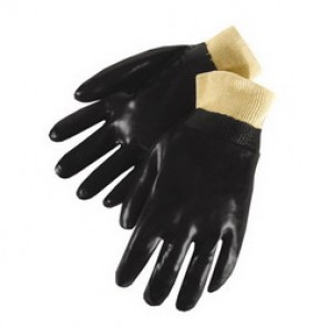 Liberty Glove 2231-S Chemical Resistant Gloves, S, Black, PVC