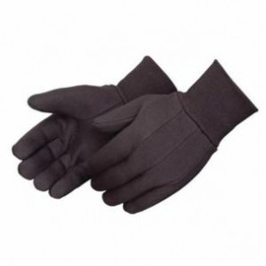 Liberty Glove 4503Q Men's Regular Weight Brown Jersey Work Gloves, Clute Cut, Straight Thumb