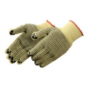 Liberty Glove 4815 Reversible Cut-Resistant Gloves, Black PVC Dots on Both Sides, 100% Kevlar®