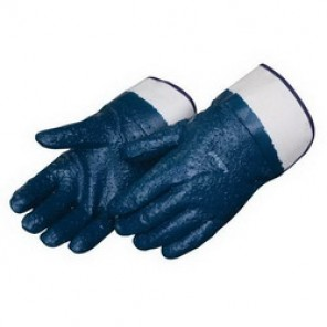 Liberty Glove 9430 Chemical Resistant Gloves, Men's, Blue, Nitrile