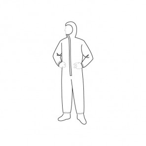 Liberty Glove 19122 ProGard Coveralls with Attached hood & boots
