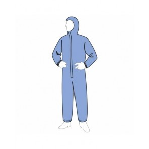 Liberty Glove 19127B Blue Disposable Coverall, XL, ProGard® SMS Fabric, XL