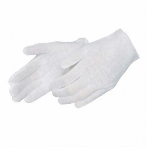 Light Weight Inspector Gloves Un-hemmed 100% Cotton & Blended Lisle - Reversible