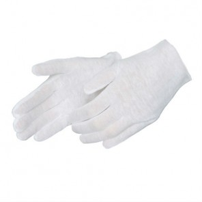 4411S Ladies' Medium Weight Hemmed Cotton Inspection Gloves