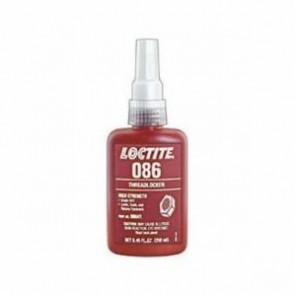 Loctite® 08641 High Strength Threadlocker, 250 mL Bottle, Liquid, Red, 1.06