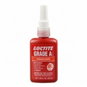 Loctite® 08831 High Strength Threadlocker, 50 mL Bottle, Liquid, Red, 1.071