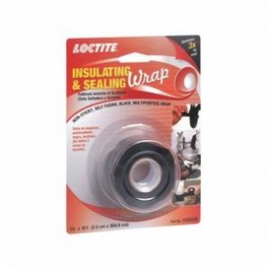 Loctite® 1540599 1-Part High Temperature Insulating and Sealing Wrap, 10 ft L x 1 in W, 0.5 mm THK, Silicone, Black