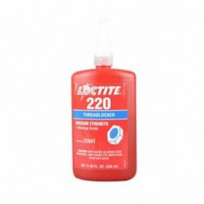 Loctite® 22041 1-Part Medium Strength Threadlocker, 250 mL Bottle, Liquid, Blue, 1.08