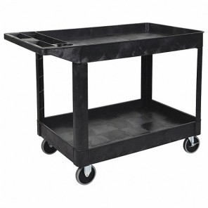 Luxor XLC11-B Two-Shelf Rolling Utility Cart, Heavy Duty