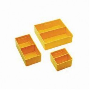 LYON® 240332DIV Removable Bin Divider, 1-15/16 in H x 3 in W, Yellow, Plastic