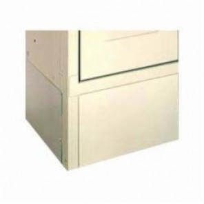 LYON® 5803 Closed Style Base Locker End Base, 6 in H x 12 in D, For Use With Standard and Expanded Metal Lockers, Steel