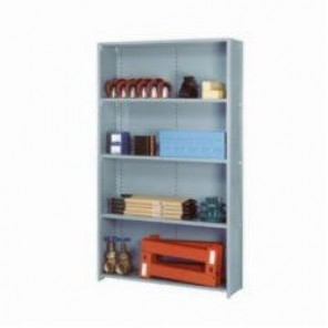 LYON® 8335SX Closed Starter Storage Shelve, 5 Shelves, 84 in H x 48 in W x 18 in D, 18 ga Steel