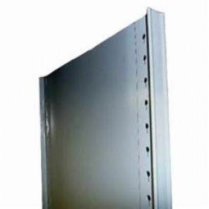 LYON® 8506-6 T-Post Closed Shelving Upright Assembly, 84 in H x 18 in D, For Use With 8000 Series Shelving System