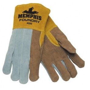 Memphis 4550 Welders Foundry, Split Select shoulder Leather-foundry gloves, Dozen