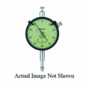 Mitutoyo Series 2 Flat Back Metric Special Dial Indicator With 3/8 in Stem, 10 mm, 0 to 100 Dial Reading, 0.01 mm
