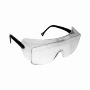 3M™ OX™ 078371-62224 Light Weight Protective Eyewear, Universal, Frameless Black Frame, Uncoated Clear Lens