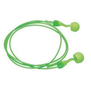 Moldex® 6945 Corded Multiple Use Disposable Ear Plug, Round, 30 dB, Green Plug
