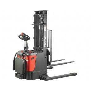 """APS FULL ELECTRIC/SELF-PROPELLED STACKER, Cap. (lbs.): 3300, Lowered Height: 2"""", Raised Height: 124"""", Lowered Mast Height: 83"""", Raised Mast Height: 145"""""""