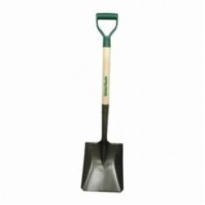 UnionTools® 42106 D-Handle Square Point Shovel, 11-1/2 in L x 9-1/4 in W, Steel Blade, 28 in Handle Length, Wood/Poly Handle