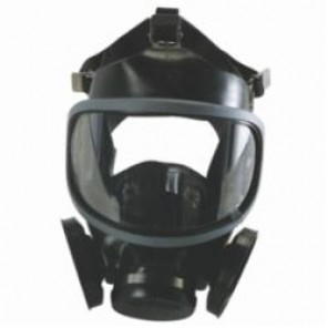MSA 480259 Ultra-Twin® Full Face Respirator, M, 5-Point Suspension, Threaded Connection, Resists: Toxic Chemicals