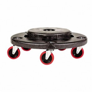 Rubbermaid Commercial Products® FG264000BLA Industrial-Strength Trash Can Dolly, 250 lb, 6.6 in H, 4 Casters