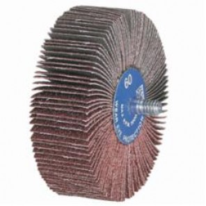 PFERD 45301 Quick-Change Coated Flap Wheel, 1 in Dia x 5/8 in W, 1/4-20, 80/Medium, Aluminum Oxide Abrasive 10/Box