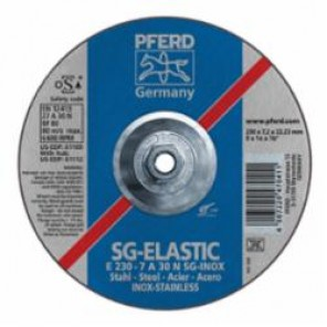 PFERD Performance Line SG-ELASTIC Depressed Center Reinforced Type 27 Cut-Off Wheel, 9 in Dia x 1/4 in THK, A30N Grit 10/Box